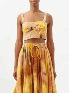 Jonathan Simkhai - Guipure Appliqué V Neck Dress - Womens - White