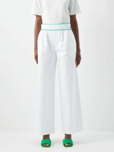 Roland Mouret - Casha Wool Crepe Skirt - Womens - Black White