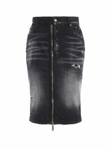Dsquared2 Zip Detail Denim Skirt