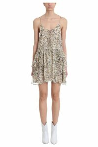 IRO Buzon Leopard Print Silk Mini Dress