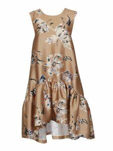 Rochas Otto Floral Print Dress