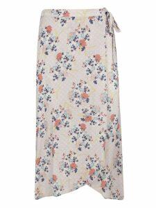 Velvet Bow Detail Skirt