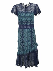 Sea Laced Detail Mid-length Dress