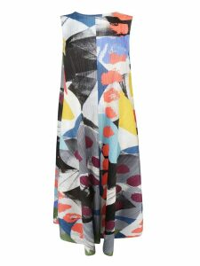 Pleats Please Issey Miyake Abstract Print Laugh Rope Dress