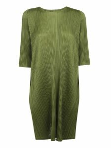 Pleats Please Issey Miyake Pleated Effect Oversized Dress