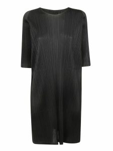 Pleats Please Issey Miyake Pleated Effect Oversized Dress