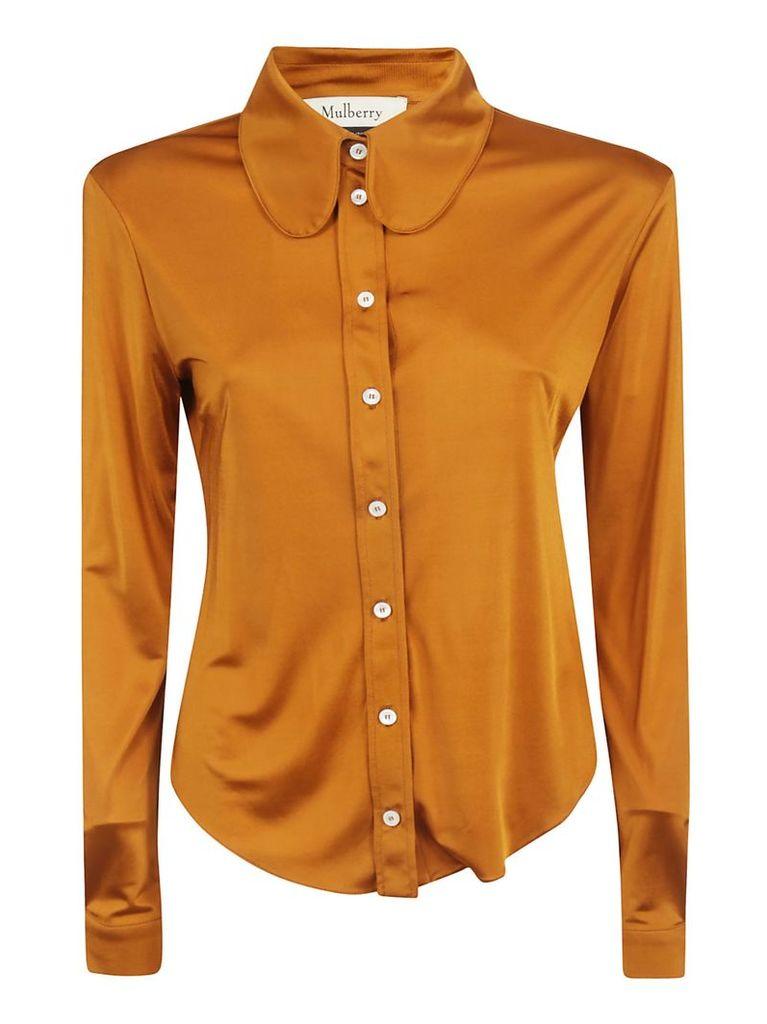 Mulberry Shiny Effect Long-sleeve Shirt
