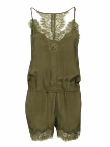 Gold Hawk Laced Detail Sleeveless Playsuit