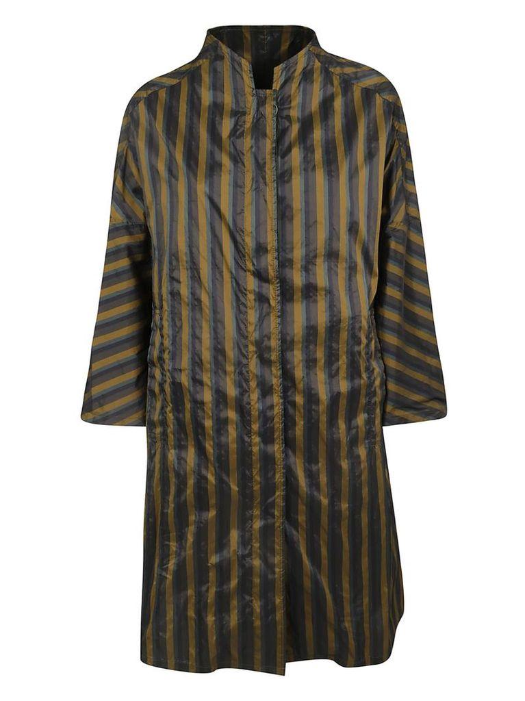 Aspesi Striped Print Oversized Coat