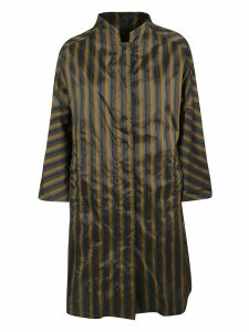 Aspesi Striped Print Oversized Coat