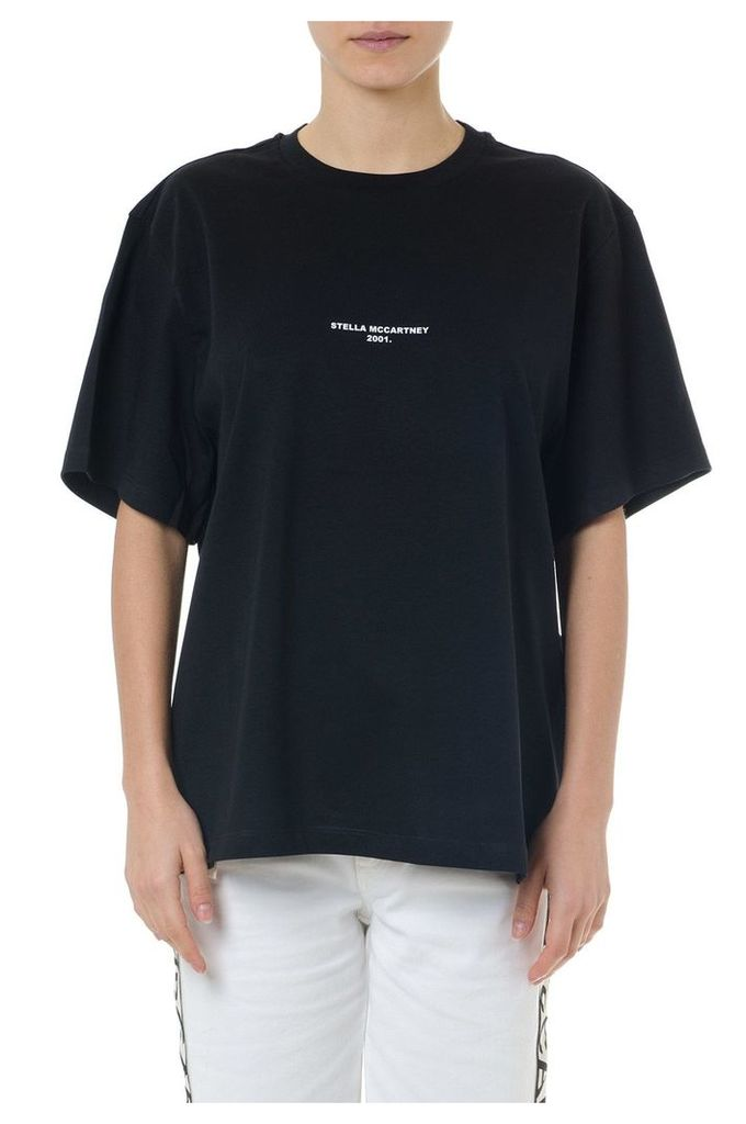 Stella McCartney Black Cotton T-shirt With Stella Mccartney 2001 Embroidery