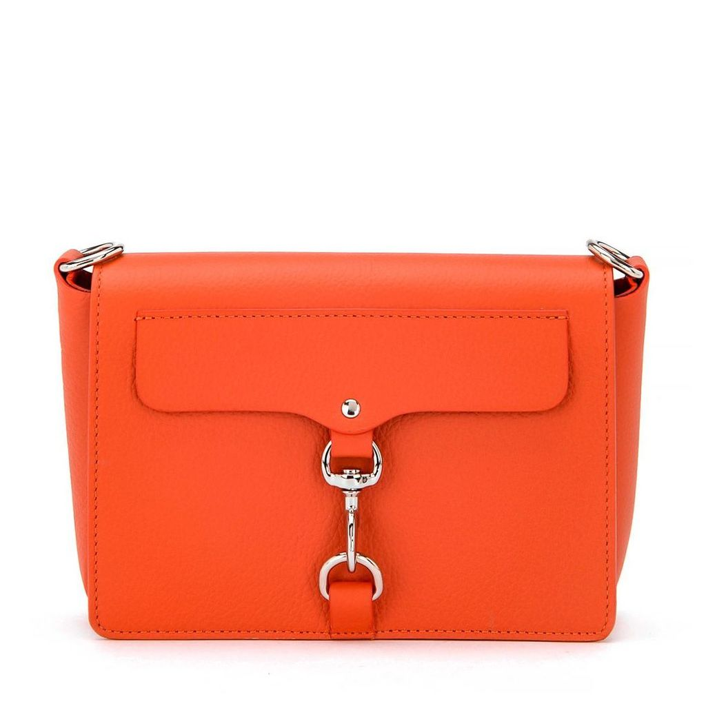 Rebecca Minkoff M.a.b. Orange Leather Shoulder Bag