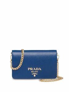 Prada Saffiano leather shoulder bag - Blue