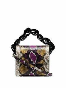 Marques'Almeida multicoloured snake effect chain leather bag - Purple