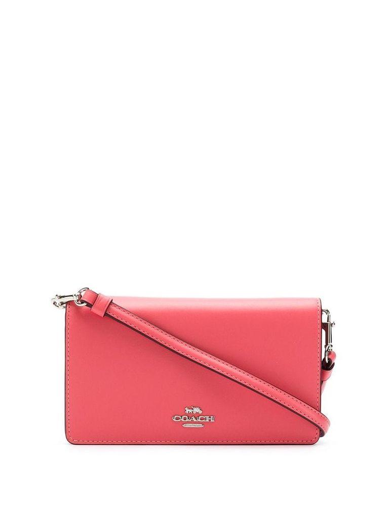 Coach logo crossbody bag - Pink