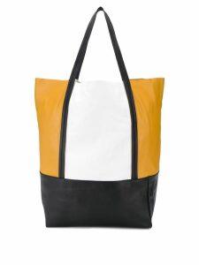 Plan C colour-block tote bag - Brown