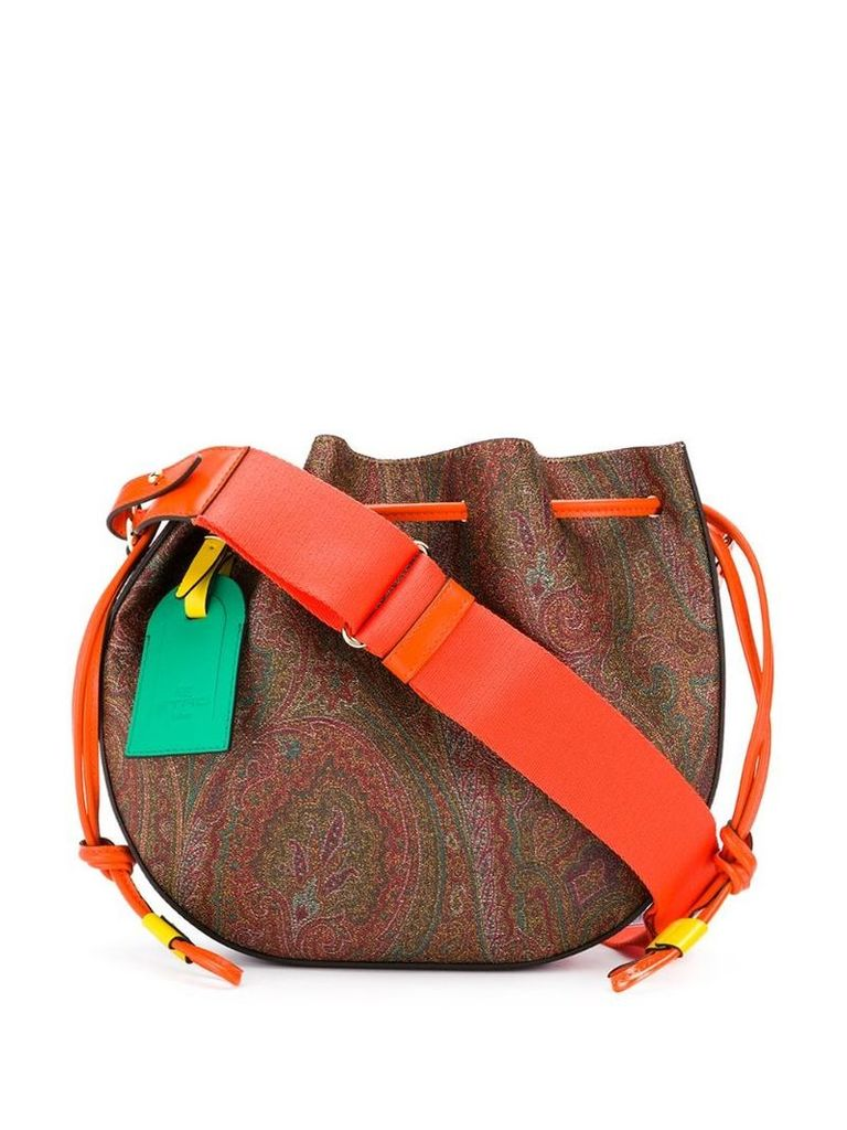 Etro Bubble Paisley bucket bag - Brown