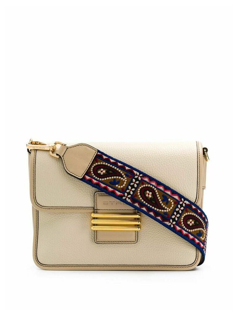 Etro paisley strap shoulder bag - Neutrals