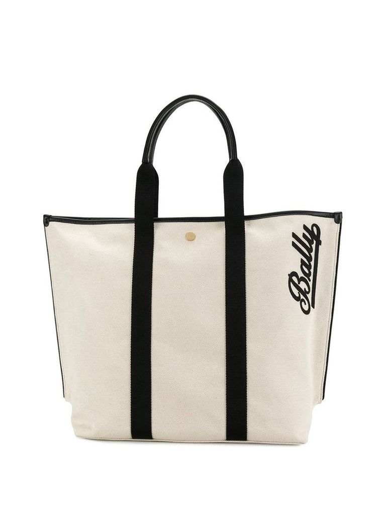 Bally medium tote bag - Neutrals