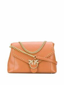 Pinko embellished shoulder bag - Brown