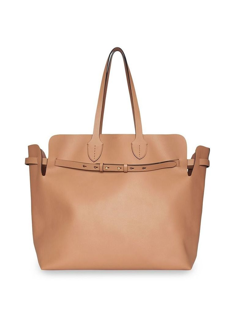 Burberry The Large Soft Leather Belt Bag - Neutrals
