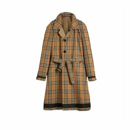 Burberry Reversible Vintage Check Gabardine Car Coat