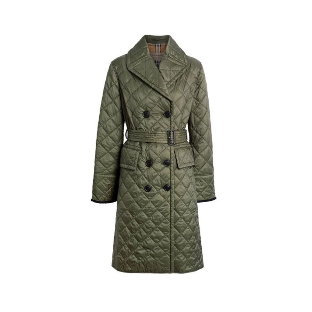 Burberry Lightweight Diamond Quilted Coat