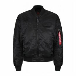 Alpha Industries Ma-1 Vf Flying Tigers Jacket All Black