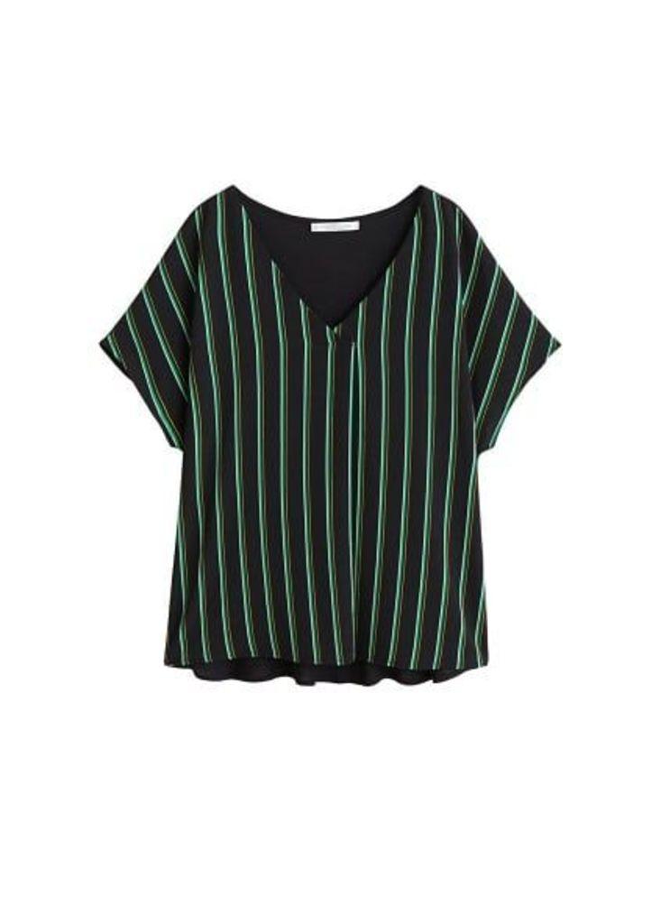 Wrap v-neckline t-shirt