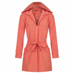 Mado Et Les Autres  Comfortable water repellent parka  women's Trench Coat in Orange