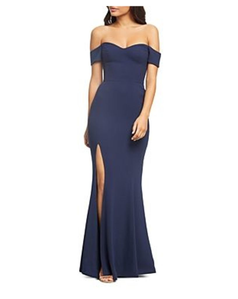 Dress the Population Logan Off-the-Shoulder Gown