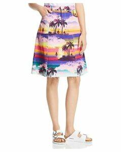 Ksenia Schnaider Printed Denim Skirt
