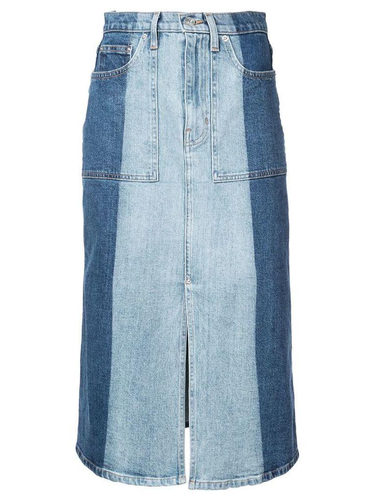 Proenza Schouler PSWL 2-Tone Denim Skirt - Blue