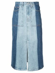 Proenza Schouler PSWL 2-Tone Denim Skirt - Blue