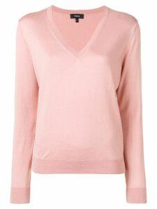 Theory V-neck jumper - Pink