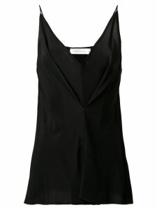 Victoria Beckham deep V-neck top - Black