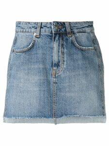 Gaelle Bonheur logo embellished denim skirt - Blue