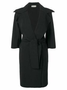 Le Petite Robe Di Chiara Boni belted mid-length coat - Black