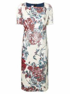 Antonio Marras sequinned midi dress - Neutrals