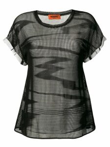 Missoni mesh round neck T-shirt - Black