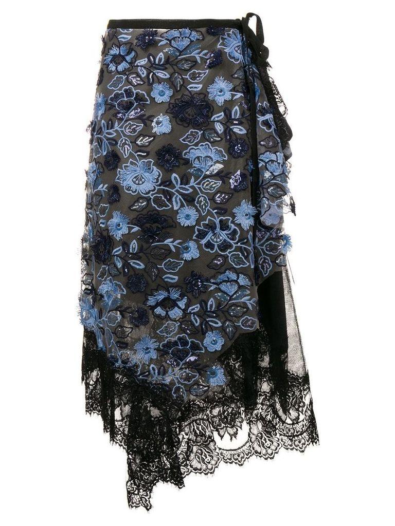 Antonio Marras embroidered midi skirt - Black