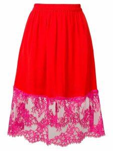 MSGM A-line midi skirt - Red