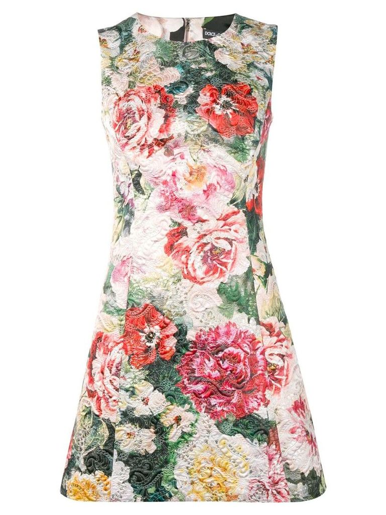 Dolce & Gabbana floral A-line dress - Green