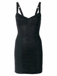 Dolce & Gabbana floral bustier dress - Black