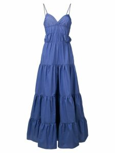 Marques'Almeida flared maxi dress - Blue