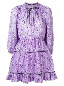 Ulla Johnson floral long-sleeve dress - Purple