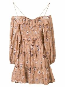 Ulla Johnson floral cold-shoulder dress - Neutrals