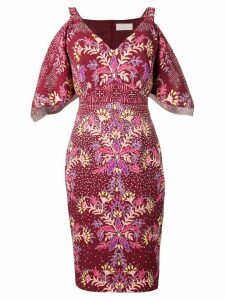 Peter Pilotto fitted midi dress - Red