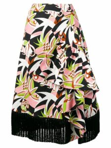 La Doublej Jungle midi skirt - Black