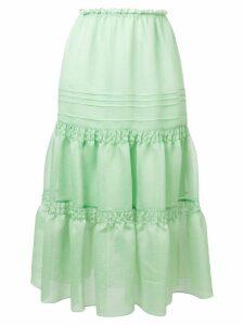 See By Chloé ruffled midi skirt - Green